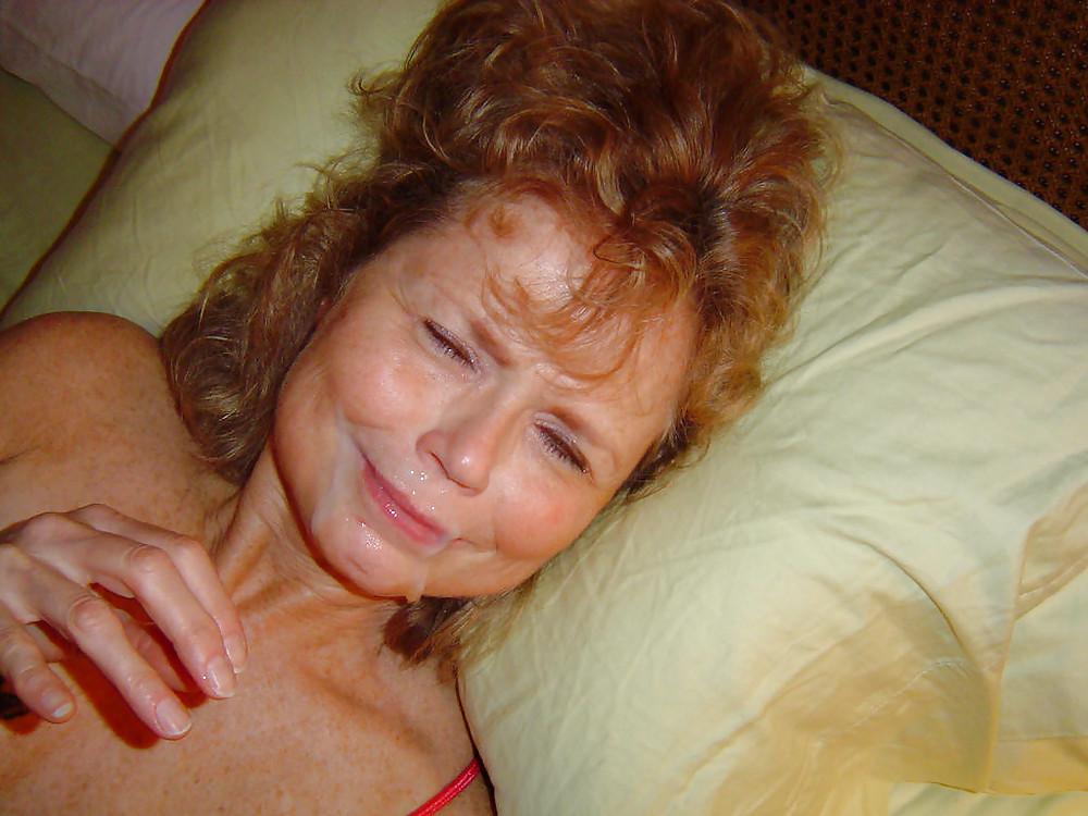 Free very old women cumshot facials