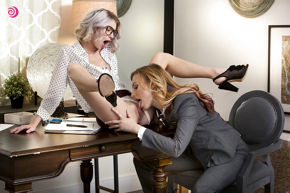 Elegant Bisexuals Maid Tribbing Her Tits Boss 1