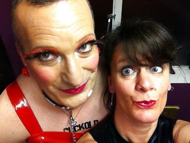 UK BBC Slut Wife with Cuckold Hubby - 45 Pics