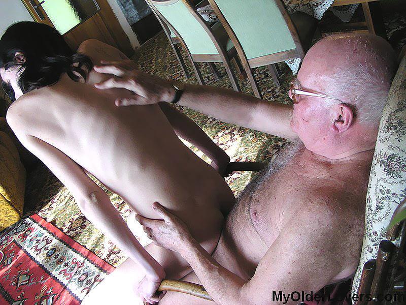Grandfather massage granddaughter