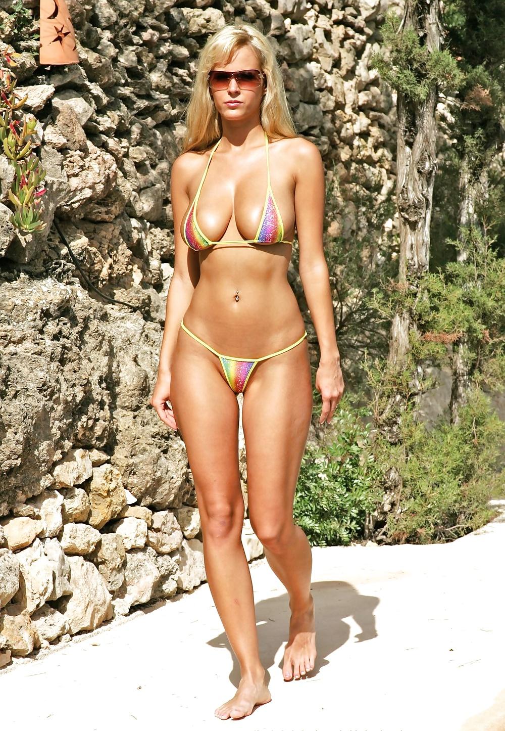 Micro string bikini swimsuit