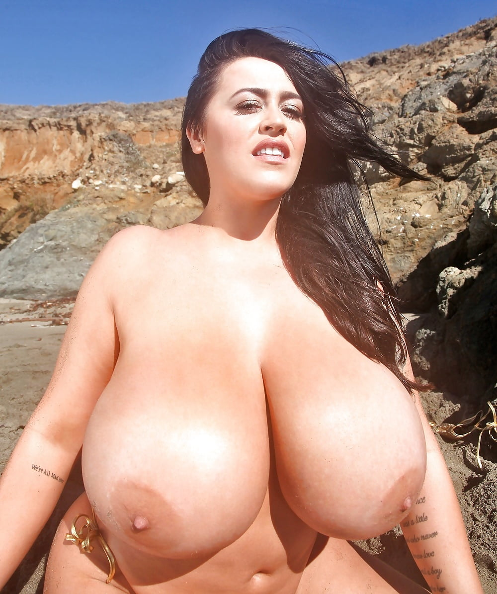 British babes with big natural boobs walk topless