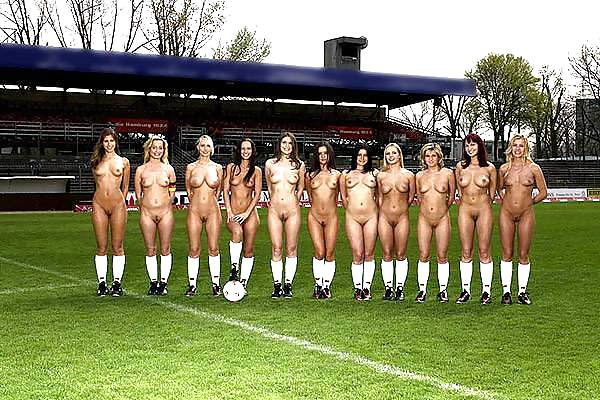 Porn nude girls football team 3