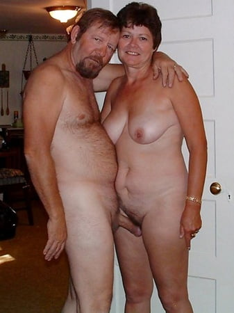 Naked old couples