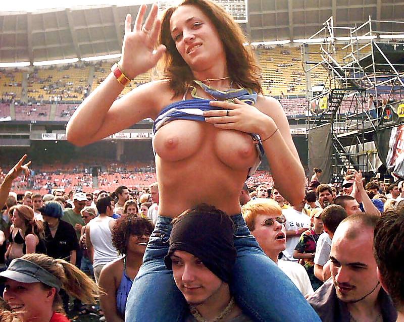 Girl nude stadium