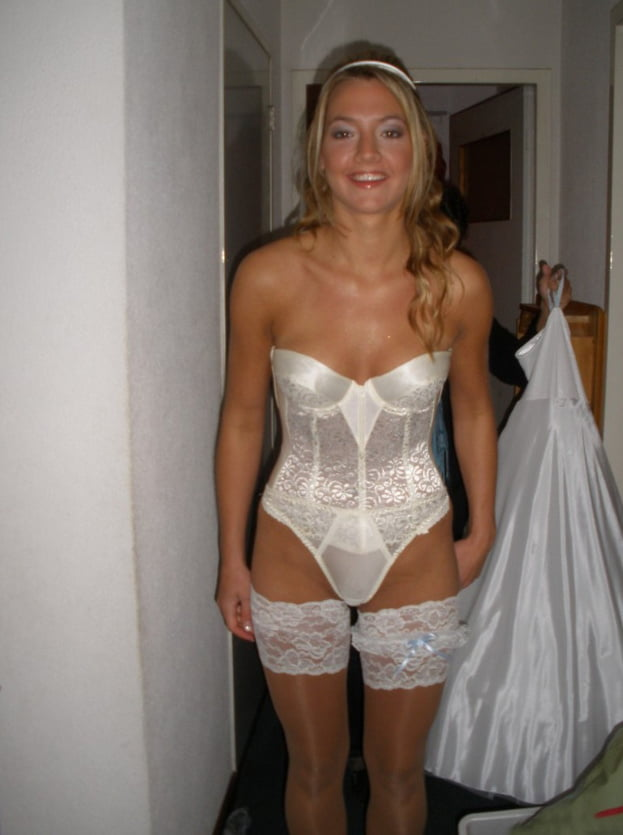 Nude, Topless, and Lingerie Brides Getting Dressed- 54