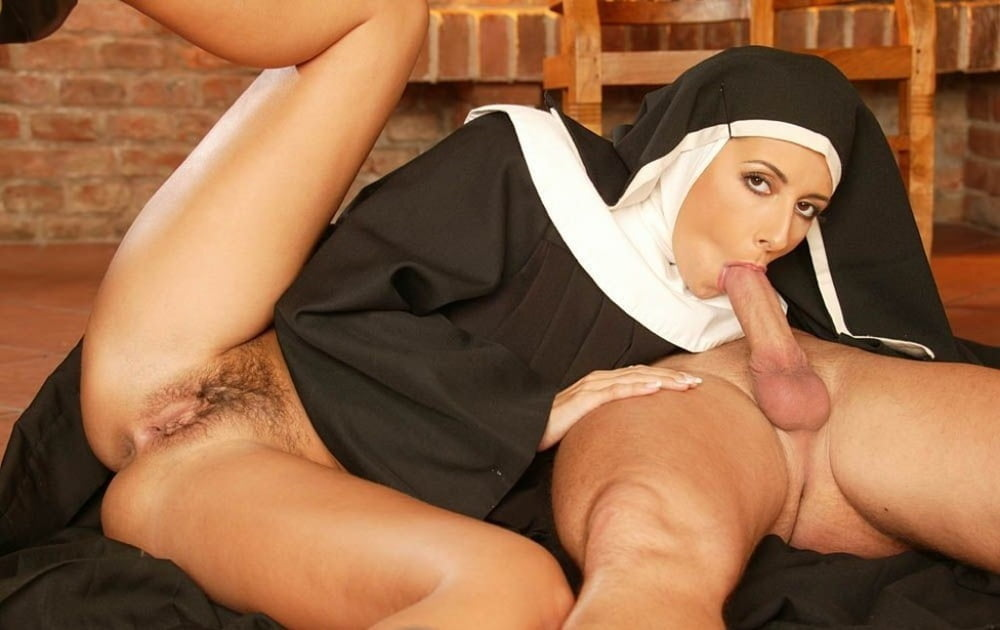 Busty slutty nun fucked in church