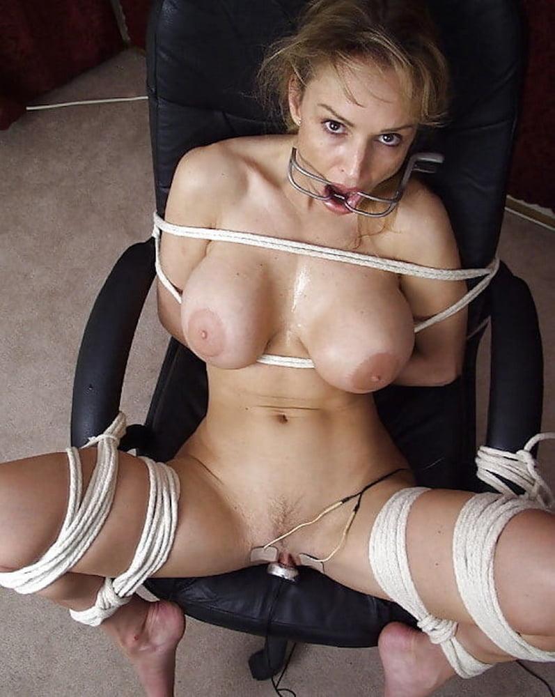 Tied Breast Bondage Tit Unwrap