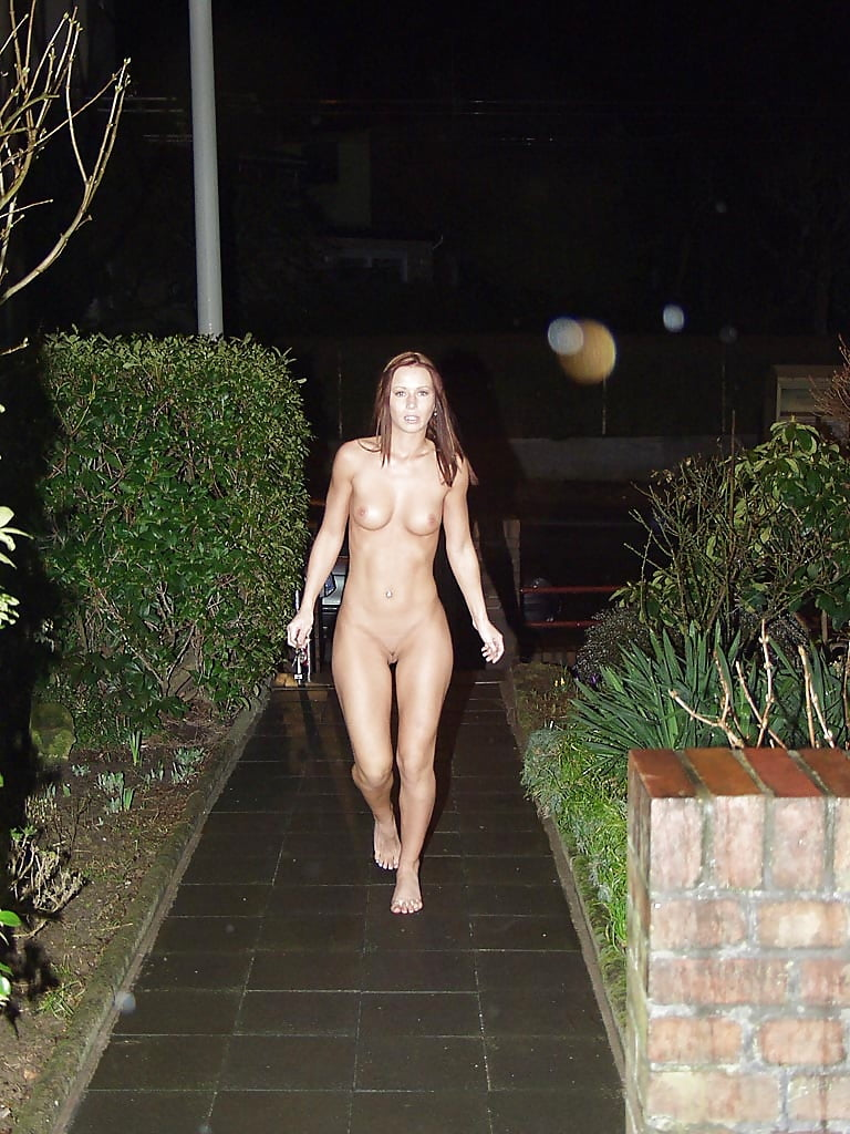 Caught naked outside on photo