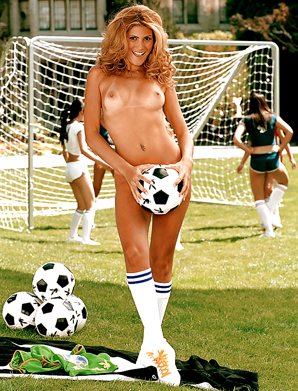 The Best Football Strip Ever German Women Pose For Playboy
