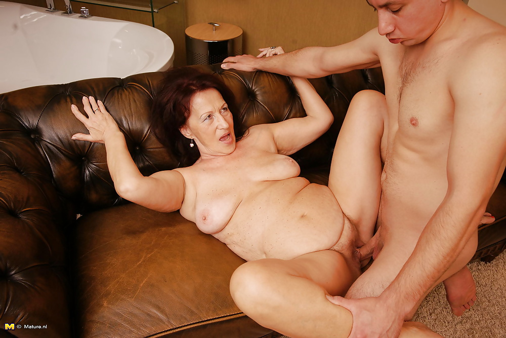 Mature woman seducing young intern