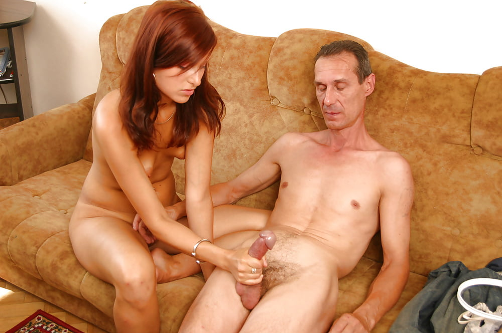 Father sex doughter, shoot cum in her mouth