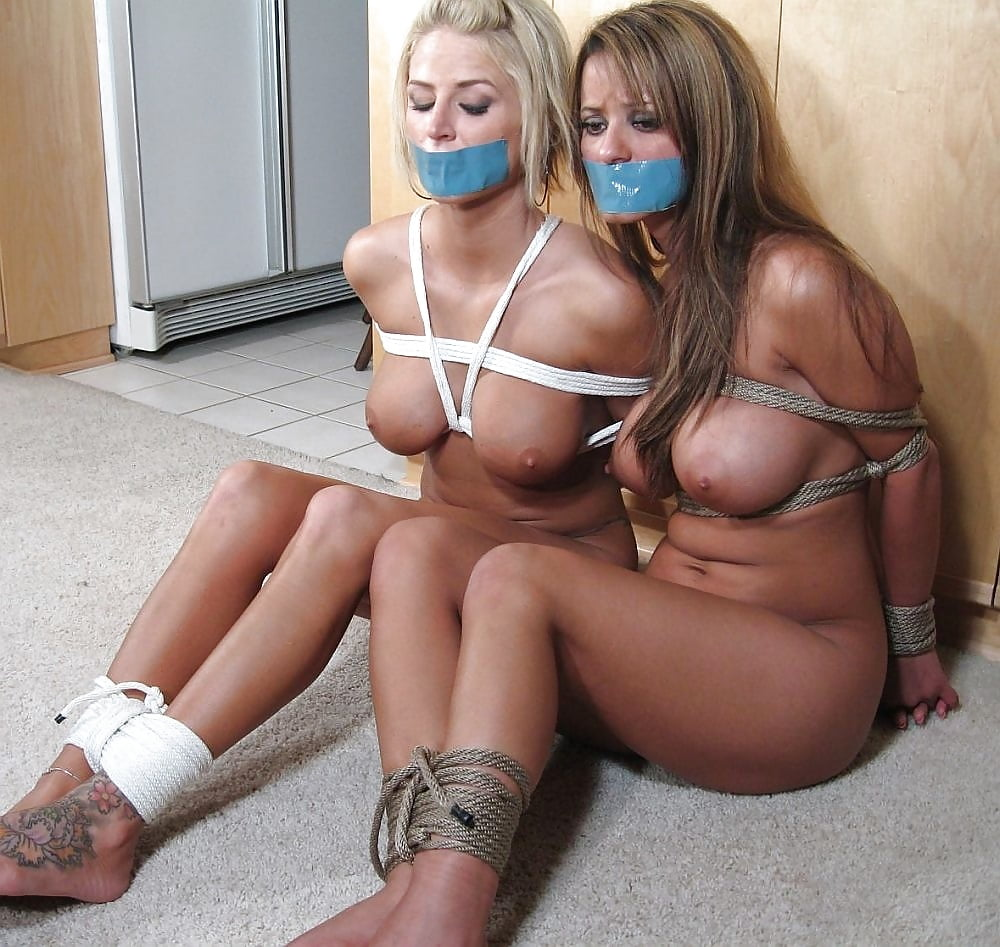 Girl-girl bondage action