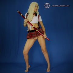 Julia V Earth Is Japanese Schoolgirl With Sword