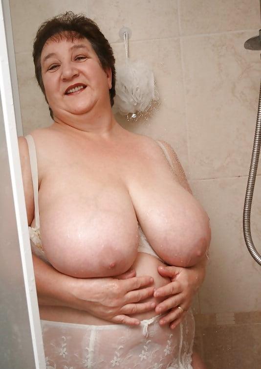 Grandma sexy shower pic