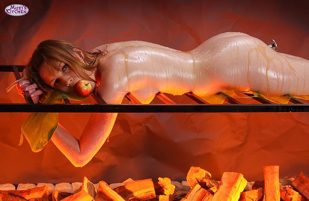 Naked Spit Roasted Women