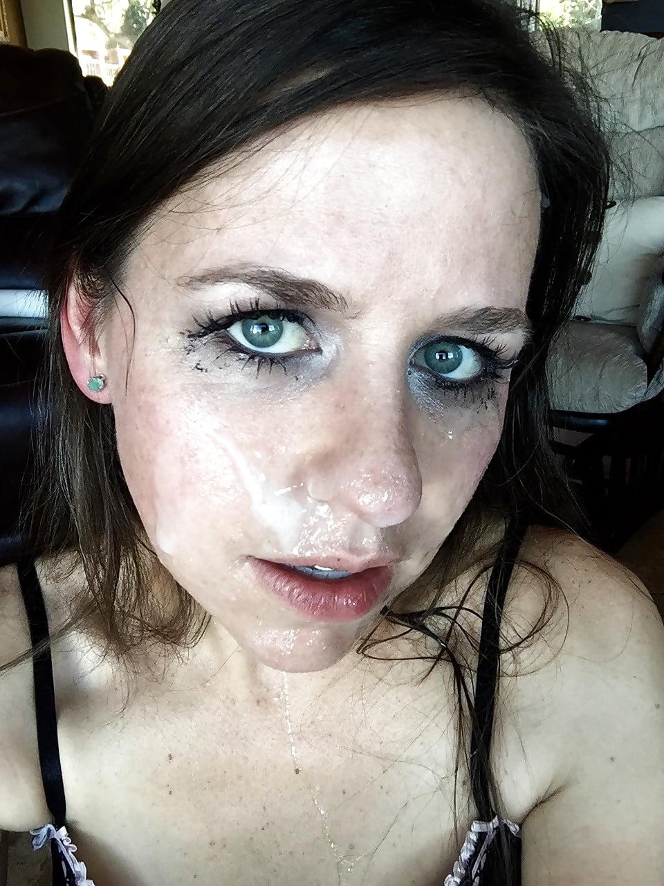 телки со спермоф на лице