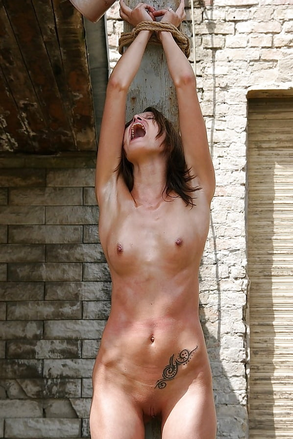 Strung Up Naked Female Whipping