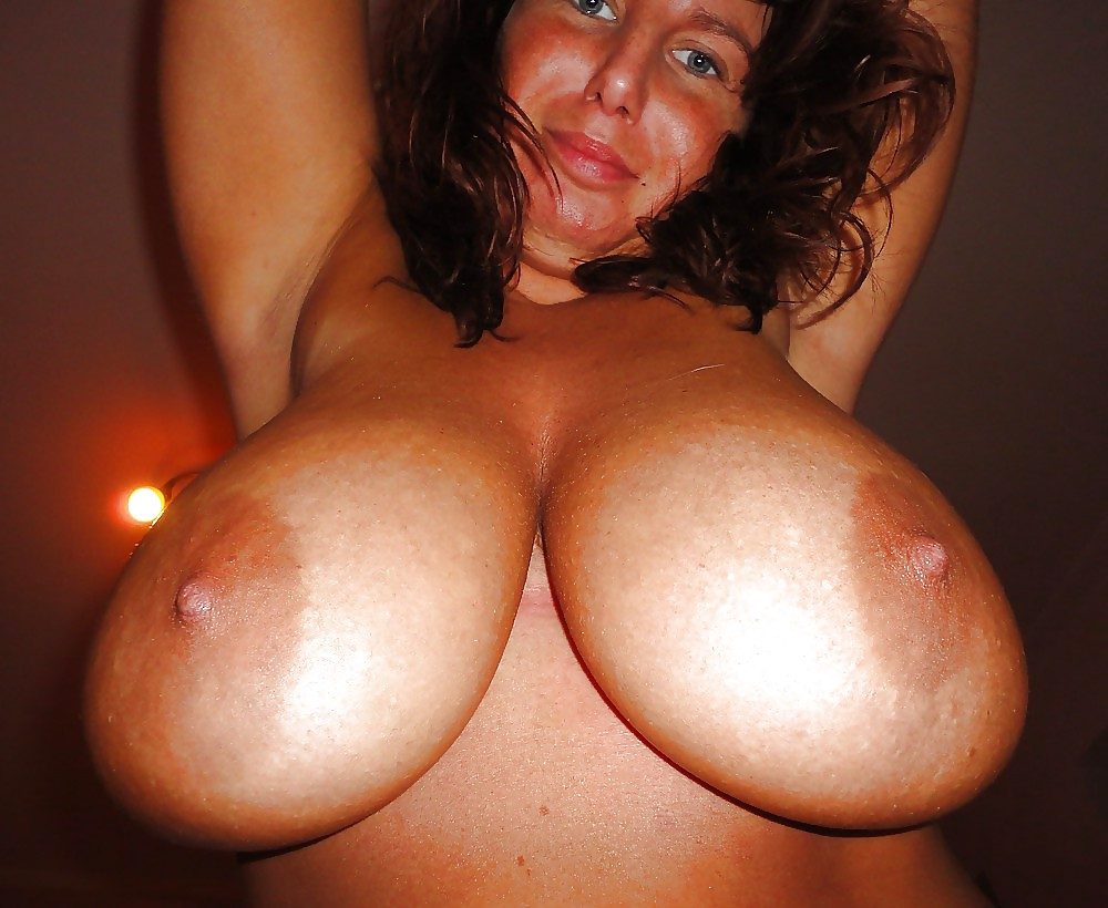 Real Mom Showing Off Her Big Titties