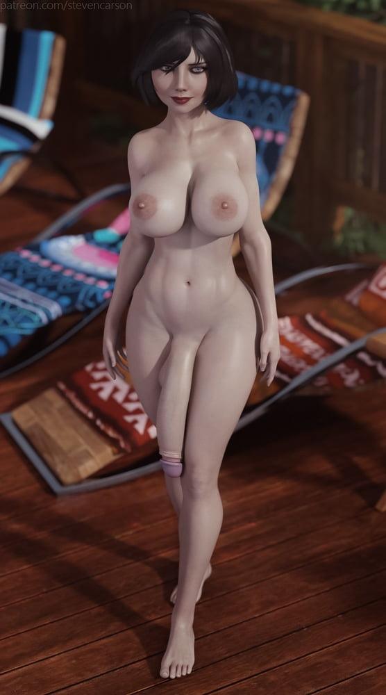(StevenCarson) - Futanari shemale from games - part 1 - 50 Pics