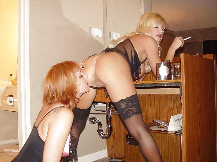 Stocking lesbian milfs
