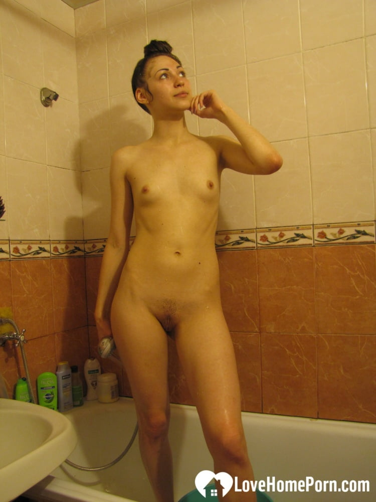 Recording my girlfriend while she is showering - 63 Pics