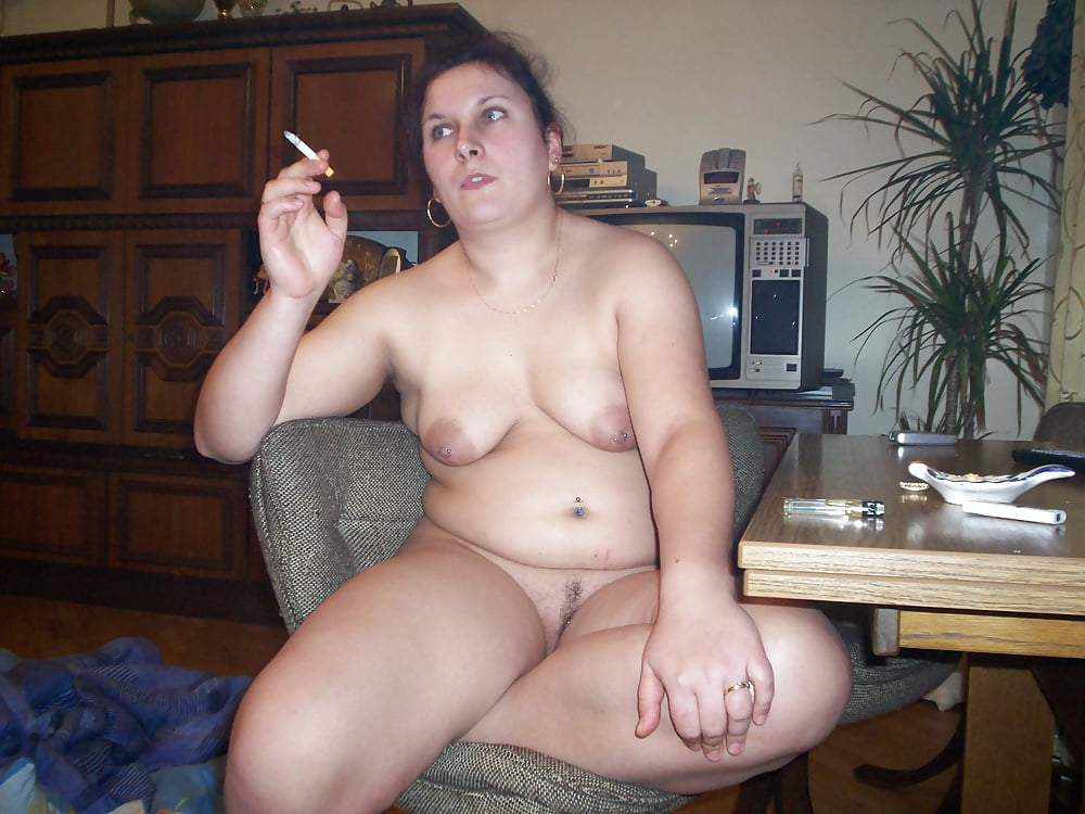 Nude Fat Women Smoking Cigarettes