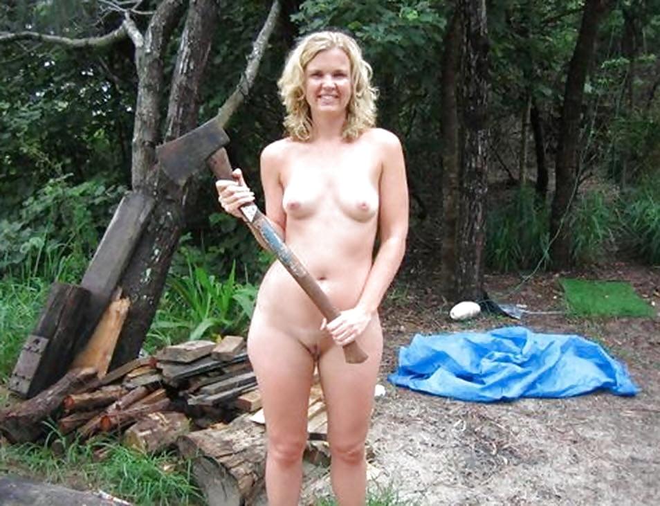 Wife hiking nude — photo 8
