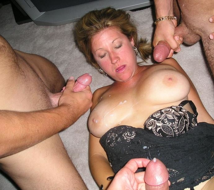 Wife fuck son cum