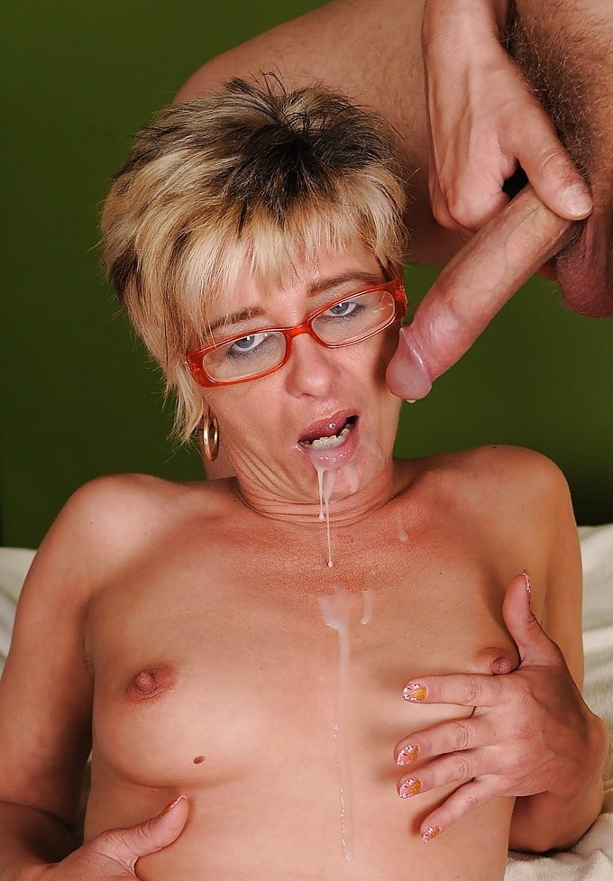 Dirty Granny In Glasses Ir Facialed 1