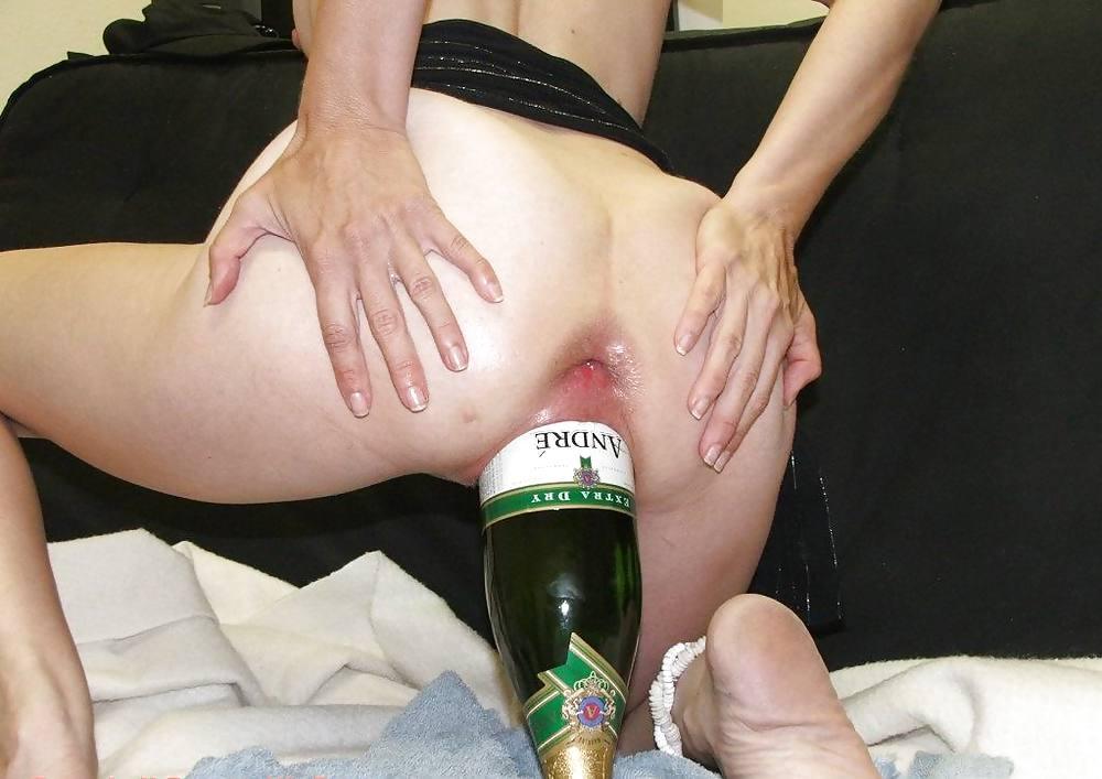Bottle insertion women porn