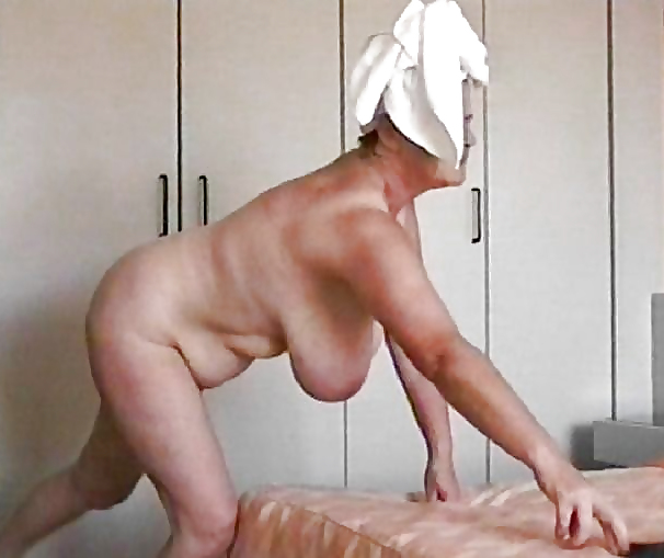 Horny milf housewife sensual massage caught by hubby hidden cam