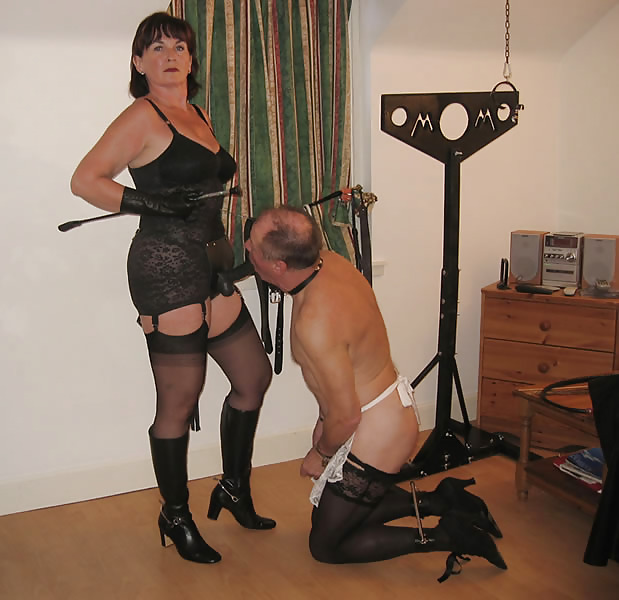 Mature mistress and slave