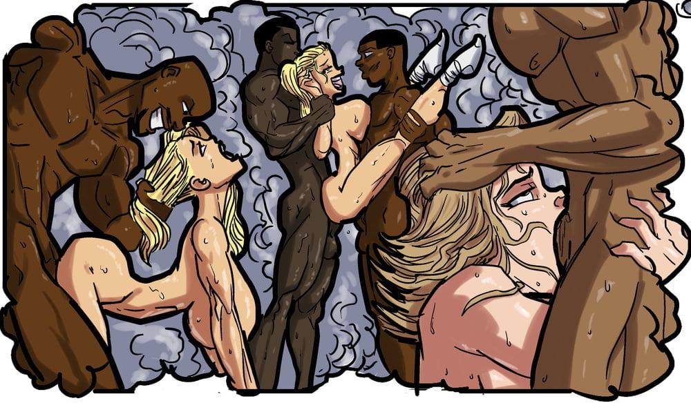 Fetish interracial cartoon porn