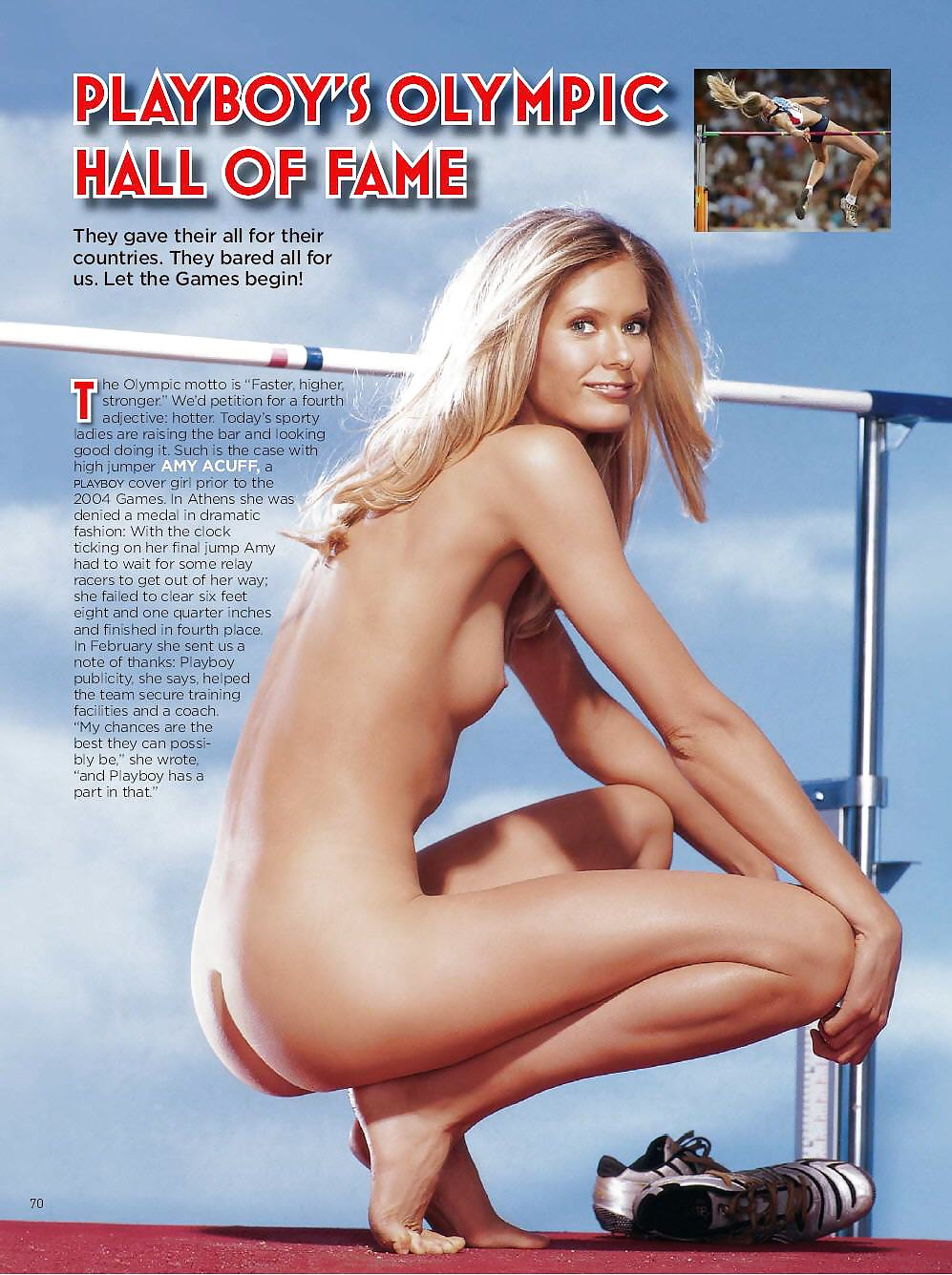 Athletes nude pics in playboy
