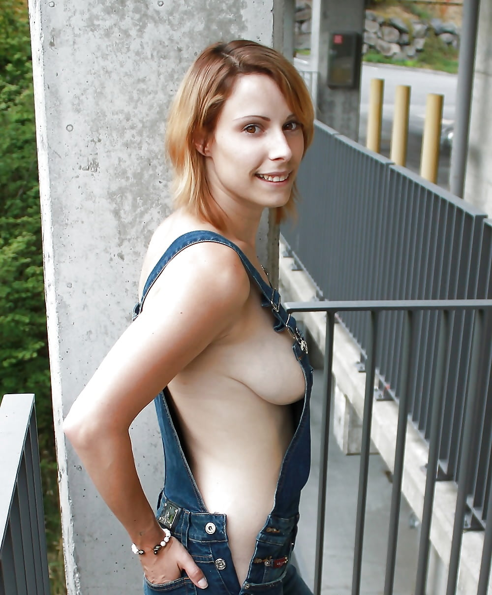 Girls overalls nude, blow job mouthful