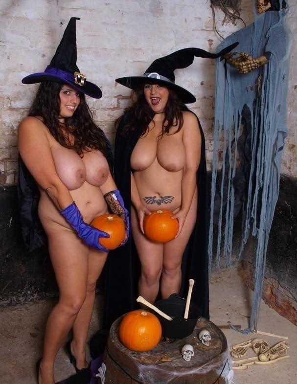 Brunette in halloween lingerie
