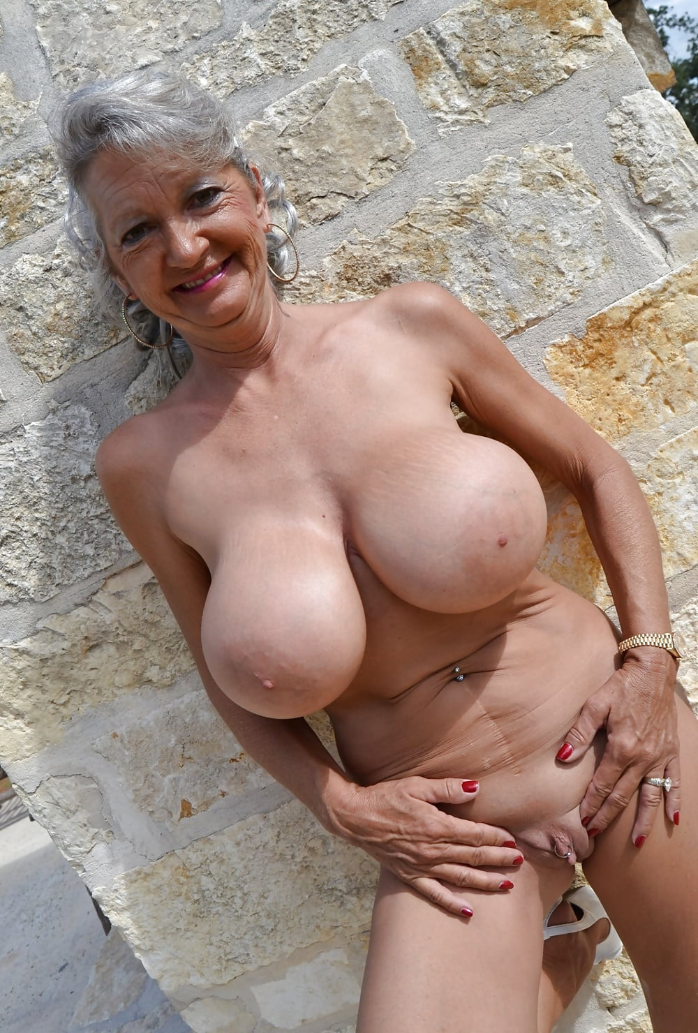 Huge granny tits