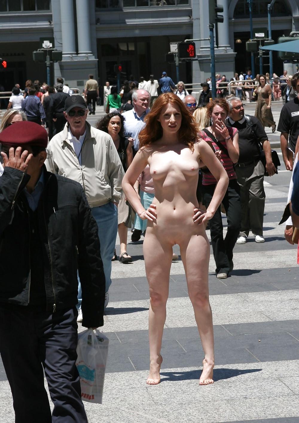 Exhibitionist nude photo