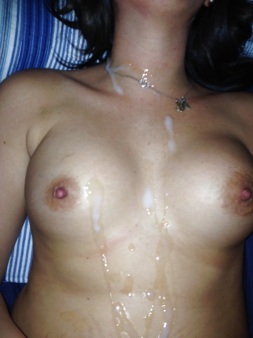 homemade cum on face and tits