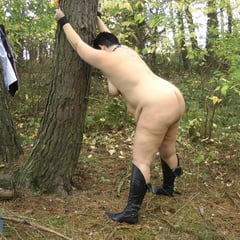 NAKED In The Forest Ass SPANKING