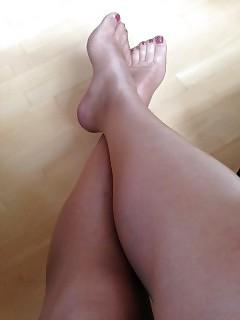 legs in stocking