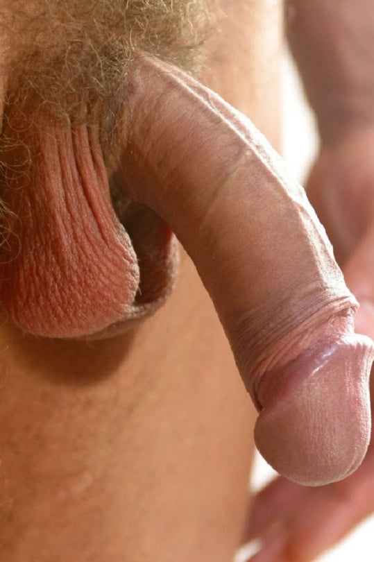 Small flaccid cock gets big and hard