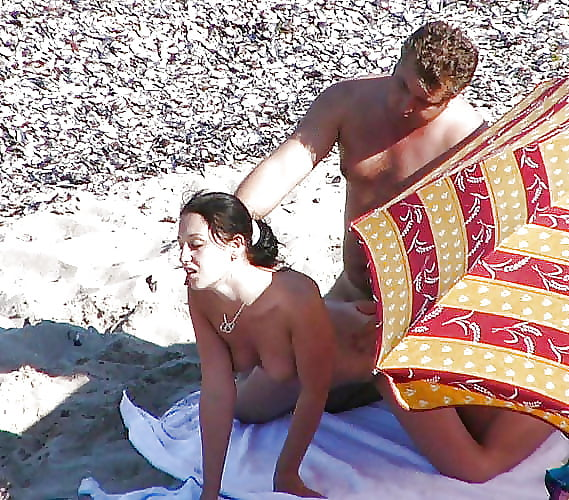 Porn on public beach-1195