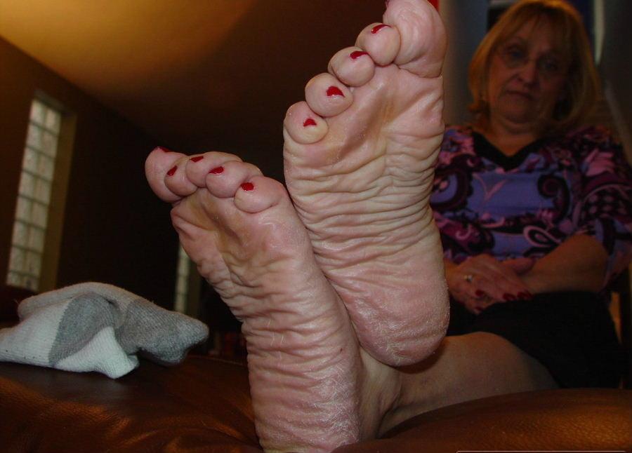 Pin on mature feet