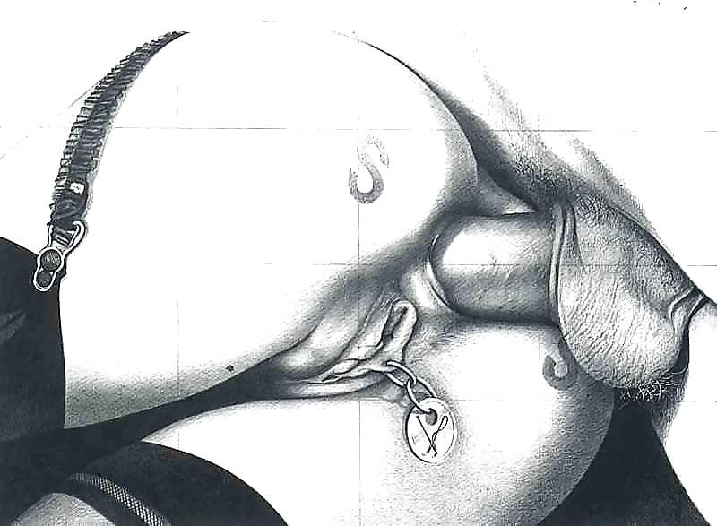 pencil-sketches-tattoo-porno-femdom-his-own-cum