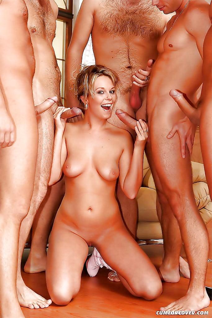 Порно пятеро мужчин и одна девушка