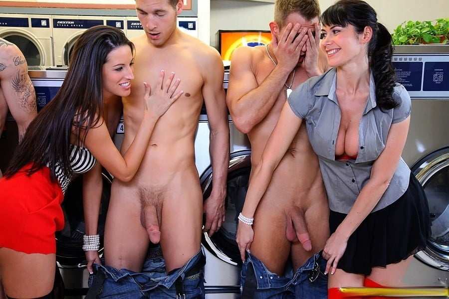 Cfnm babe gives a big black cock a handjob in reality groupsex