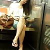 New York Subway Girls Asian Hot Legs