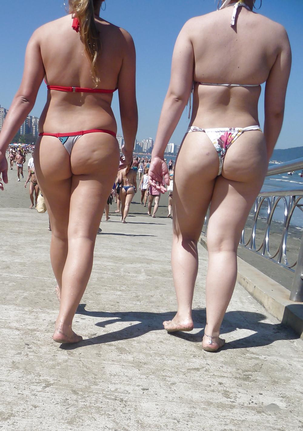 Milf Beach Bikini Pussy